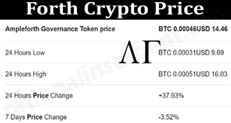 Forth Crypto Price 2021.