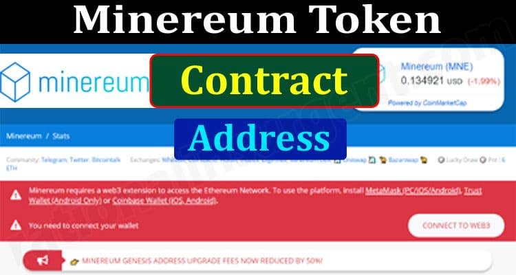 Minereum Token Contract Address {June} Lets Explore!