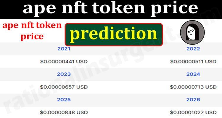 ape nft token price prediction {June} Make Some Profit! 2021.