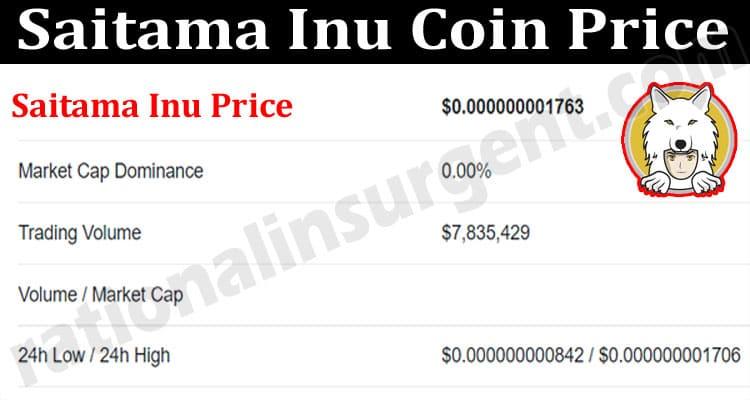 About General Information Saitama Inu Coin Price