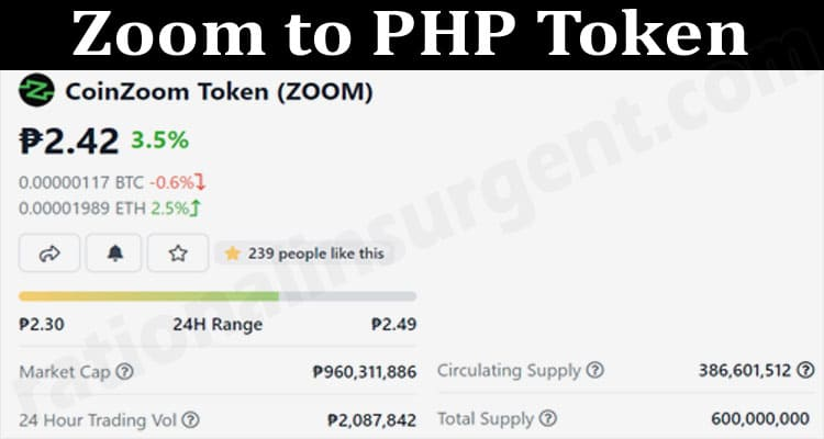 About General Information Zoom to PHP Token