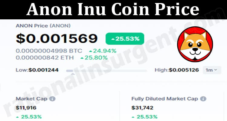 Anon Inu Coin Price 2021.