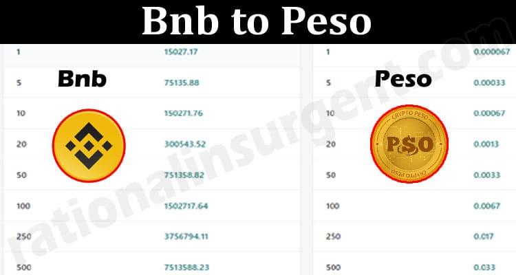Bnb to Peso 2021.