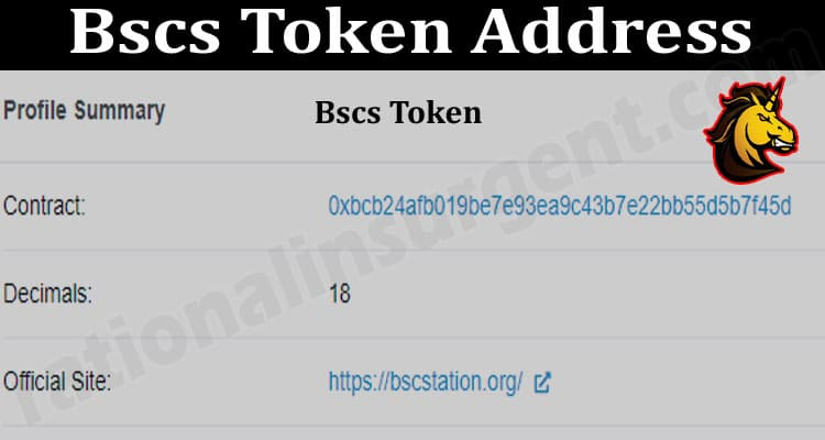 Bscs Token Address 2021.