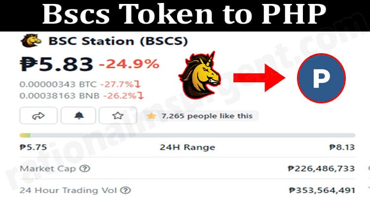 Bscs Token to PHP 2021.
