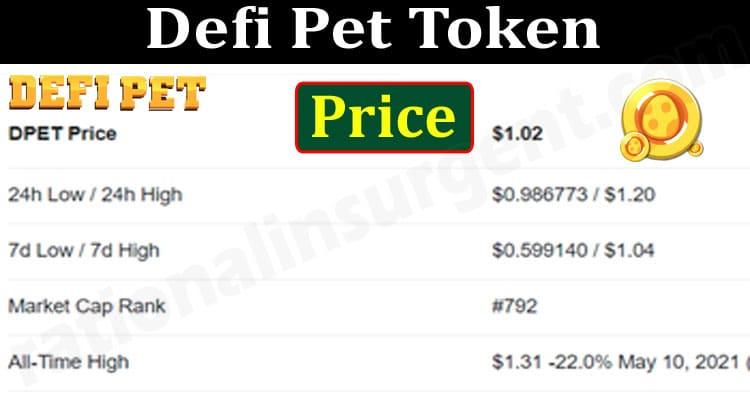 Defi Pet Token Price 2021.