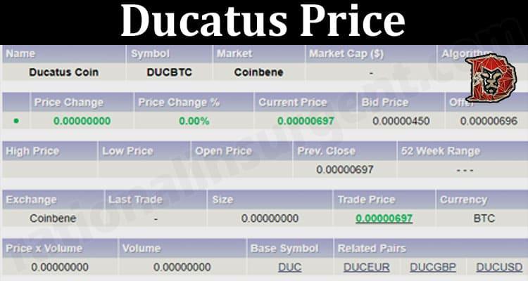 Latest News Ducatus Price