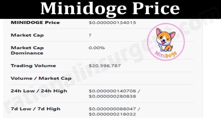 Minidoge Price 2021.
