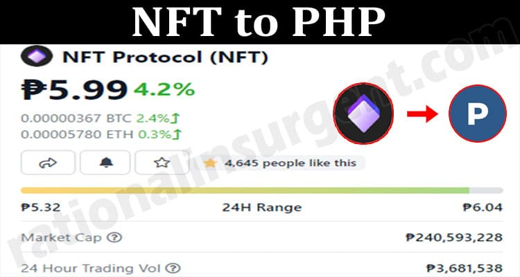 NFT to PHP 2021.