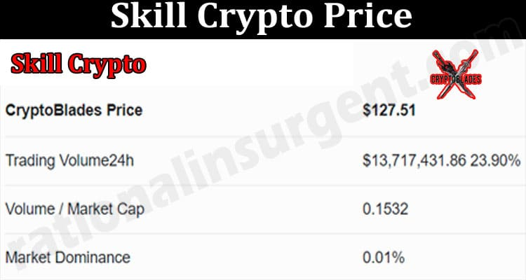 Skill Crypto Price 2021.