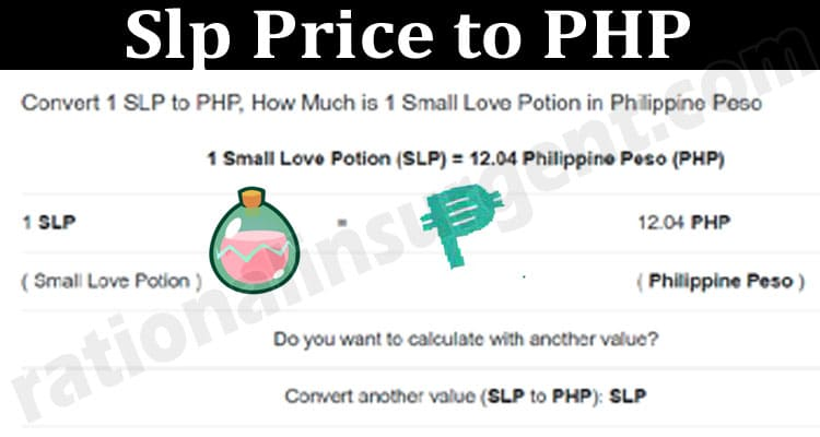 Slp Price to PHP 2021.