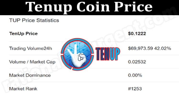 Tenup Coin Price 2021.