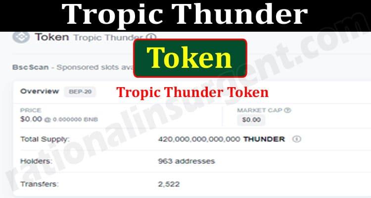 Tropic Thunder Token 2021.