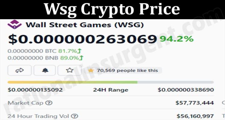 Wsg Crypto Price 2021.