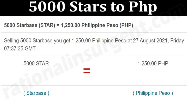 About General Information 5000 Stars to Php