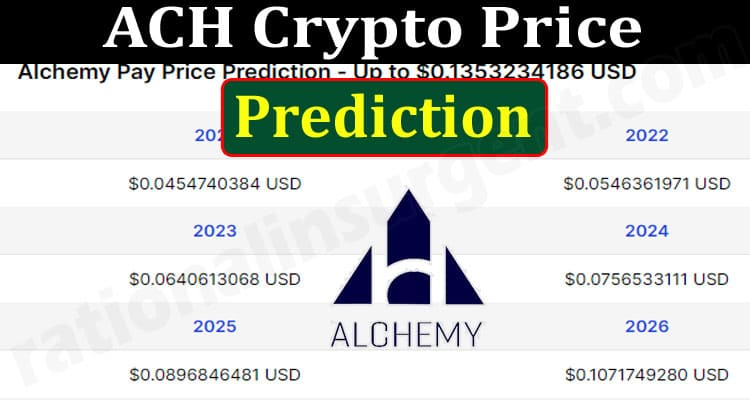 About General Information ACH Crypto Price Prediction