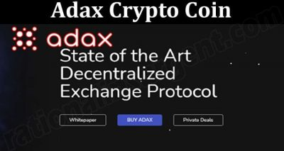 About General Information Adax Crypto Coin