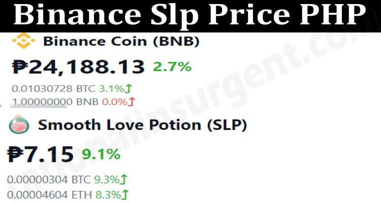 About General Information Binance Slp Price PHP