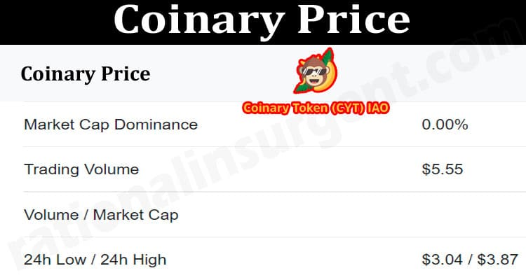 About General Information Coinary Price.