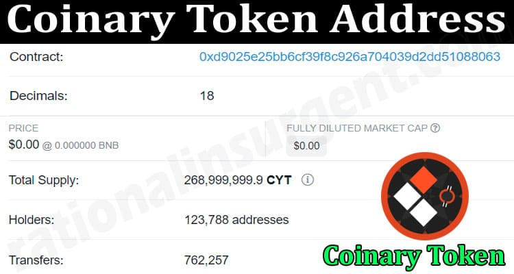 About General Information Coinary Token Address