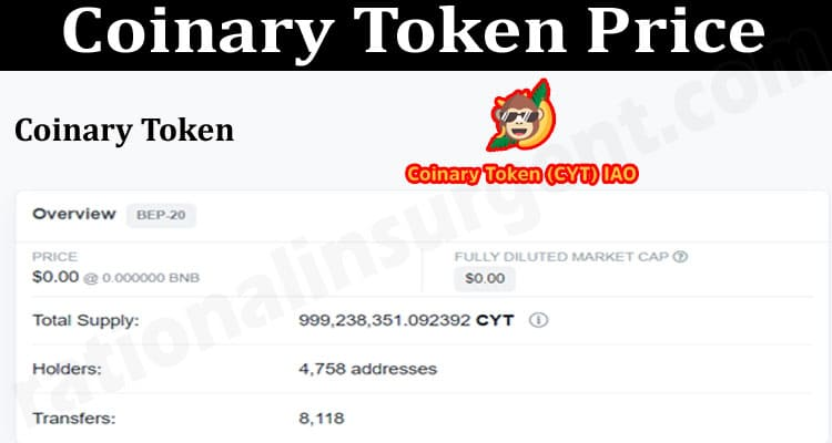 About General Information Coinary-Token-Price