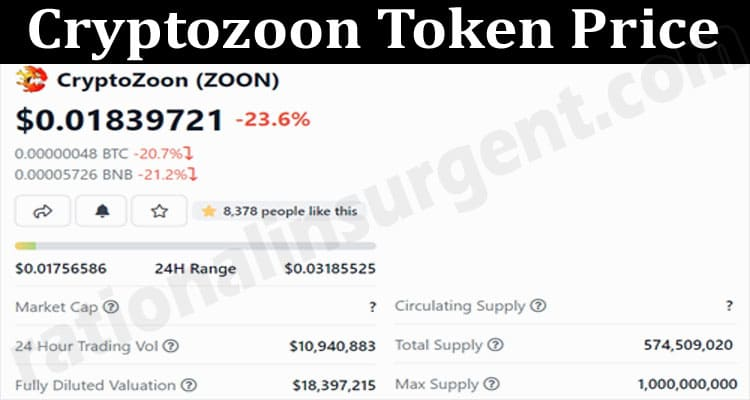 About General Information Cryptozoon Token Price