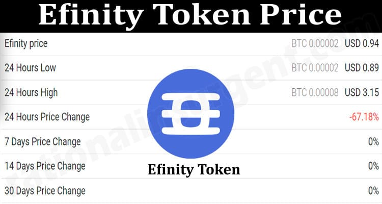 About General Information Efinity-Token-Price