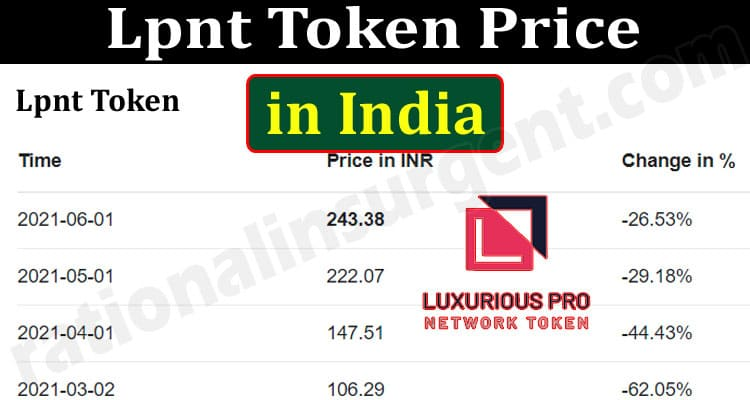 About General Information Lpnt Token Price In India