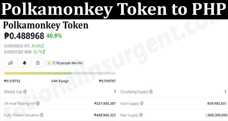 About General Information Polkamonkey Token to PHP 2021