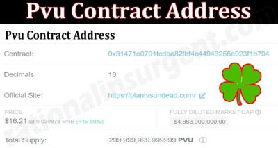 About General Information Pvu Contract Address
