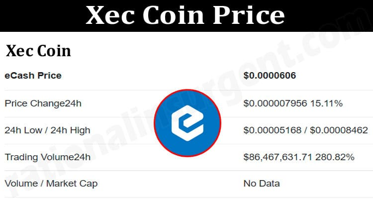 About General Information Xec-Coin-Price