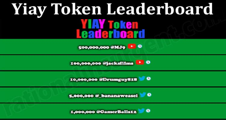 About General Information Yiay Token Leaderboard.