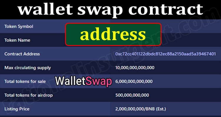 About General Information wallet swap contract address