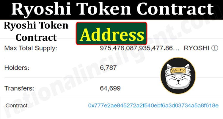 About General information Ryoshi Token Contract Address