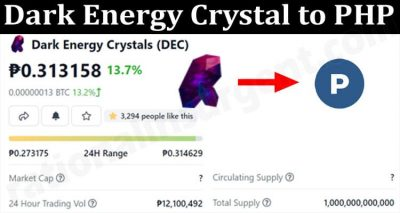 Dark Energy Crystal to PHP (Aug) Prediction and Price
