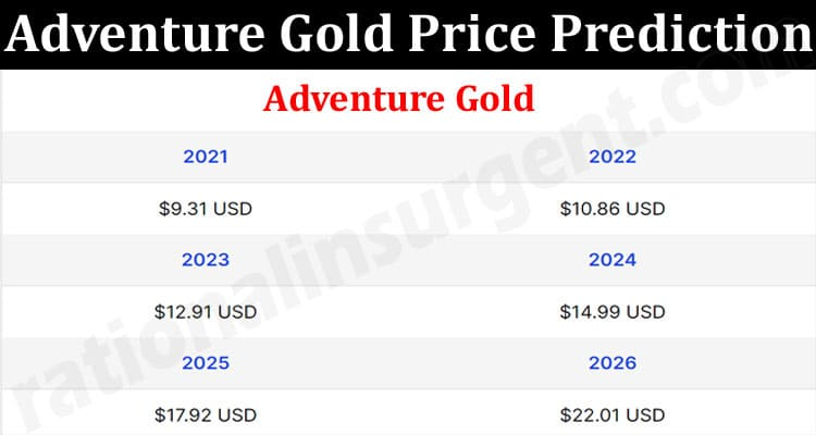 About Gemneral Information Adventure Gold Price Prediction