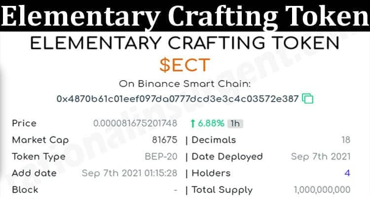About General Information Elementary Crafting Token