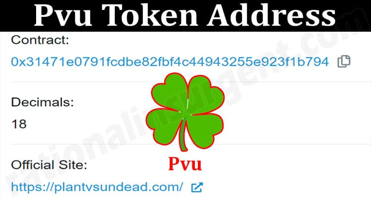About General Information Pvu Token Address