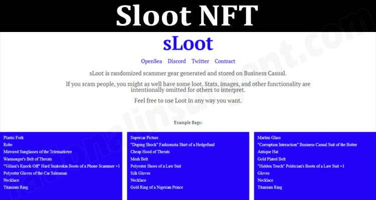 About General Information Sloot NFT