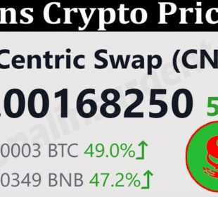 About General Information Cns Crypto Price